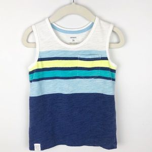 Carter's - 3T Boys Striped Tank Top